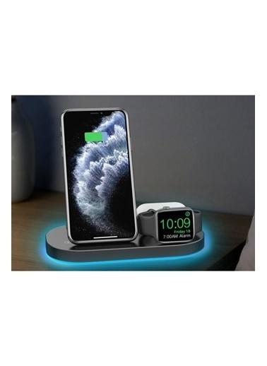 marstec Marstec 3 in 1  Apple Watch Samsung Iphone AirPods Kablosuz Beyaz  Hızlı Şarj istasyon Standı Beyaz